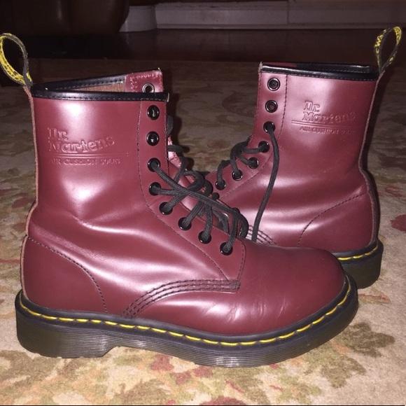 Dark Red Doc Marten Boots   Poshmark